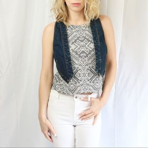 🌿NWOT Free People Cropped Denim Vest